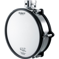 """Roland PD-125XS 12"""" Mesh Drum Dual-Trigger Pad - Chrome Shell - for Snare Stand"""