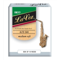 Rico La Voz Alto Saxophone 10-Pack, Medium Soft Strength