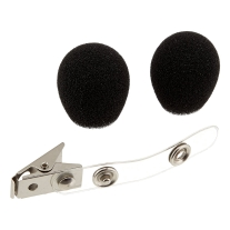 Shure RK318WS Black Foam Windscreens and Clothing Clip