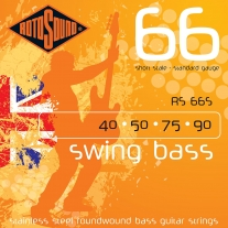 Rotosound RS66S Swing Bass 66 Stainless Steel Short-Scale Bass Guitar Strings