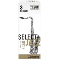 D'addario Select Jazz FIled Bb Tenor Sax Reeds 5ct, 3 Medium Strength