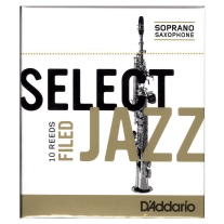 D'ADDARIO SELECT JAZZ FILED REEDS 2 SOFT SOPRANO SAXOPHONE
