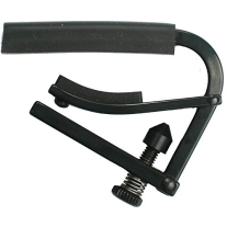 Shubb C1K (Capo Noir) Black Chrome Capo for Steel String Guitars