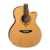 Luna Heartsong Grand Concert Acoustic Electric Guitar with USB