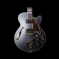 D'angelico EX-SS Deluxe Semi Hollow Electric Guitar in Midnight Matte