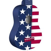 Stagg US USA FLAG Soprano Ukulele with Gig Bag