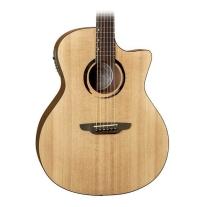 Luna Guitars Wabi Sabi Grand Concert Acoustic-Electric Guitar Natural