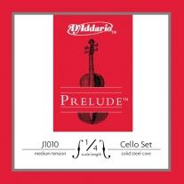 D'Addario Prelude Cello String Set 1/4 Scale Medium Tension