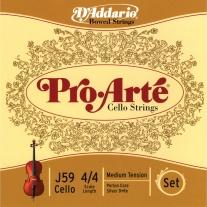 D'ADDARIO J59 Pro-Arté Cello 4/4 Scale Medium Tension Set