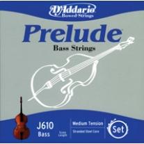 D'Addario J610 Prelude Bass 1/2 Scale String Set