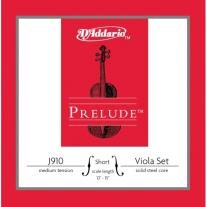 D'Addario Prelude Viola String Set Short Scale Medium Tension
