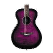 Daisy Rock Pixie Acoustic-Electric Guitar in Plum Purple Burst