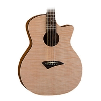 Dean Axcess Flame Acoustic/Elec Guitar in Natural Finish