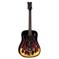 Dean Brett Michaels The Player Acoustic Guitar with Hot Rod Flames