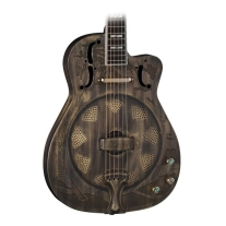 Dean RESCEHB Heirloom Resonator Etched Brass Body Acoustic Electric Guitar