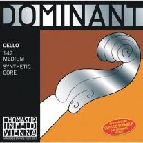 Thomastik Infeld Dominant 147 Set Synthetic Core 4/4 Medium Cello Strings