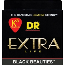 DR STRINGS BKB45 Extra Life Black Beauties Coated Bass Strings