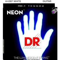 DR NEON 2NWE9 Neon White Electric Guitar Strings Lite 9-42