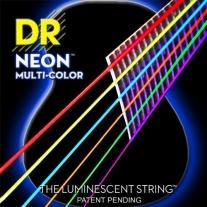 DR NEON NMCA11 Acoustic Strings, Custom Light, Mulit-Color