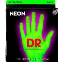 DR NEON NGB545 Neon Green Coated Nickel 5 String Bass Guitar Strings, Medium
