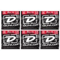 Dunlop DBN45105 Nickel Plated Steel Bass Strings .450-.105 Medium 6-Pack