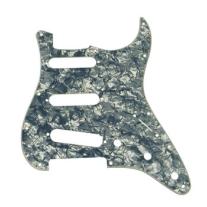 Fender Standard Strat Pickguard in Black Pearl