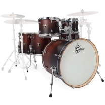 Gretsch Catalina Maple 6pc Shell Pack Drumset in Satin Walnut Fade
