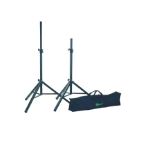 K&M 21459 Two Speaker Stands with A Carrying Case