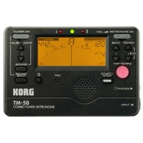 Korg TM50 Tuner and Metronome in Black