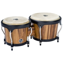 Latin Percussion LPA601SW Aspire Walnut Bongos with Black Hardware