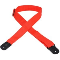 "Levy'S 2"" Polypropylene Logo Guitar Strap in Red"