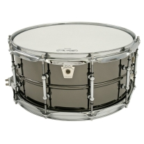 """Ludwig LB417T 6.5x14"""" Brass Shell Black Beauty Snare Drum"""