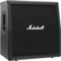 Marshall MG Series MG412CF 4x12 Guitar Speaker Cabinet Carbon Fiber Slant
