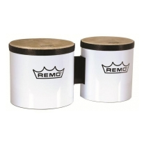 "Remo BG-5300-00 Bongo Set White 6"" and 7"" Heads"