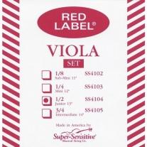 """Super Sensitive SS4104 Red Label Junior 13"""" Viola String Set"""