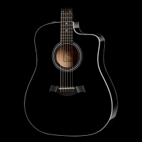Taylor 210ce Acoustic Electric Guitar with Cutaway in Black
