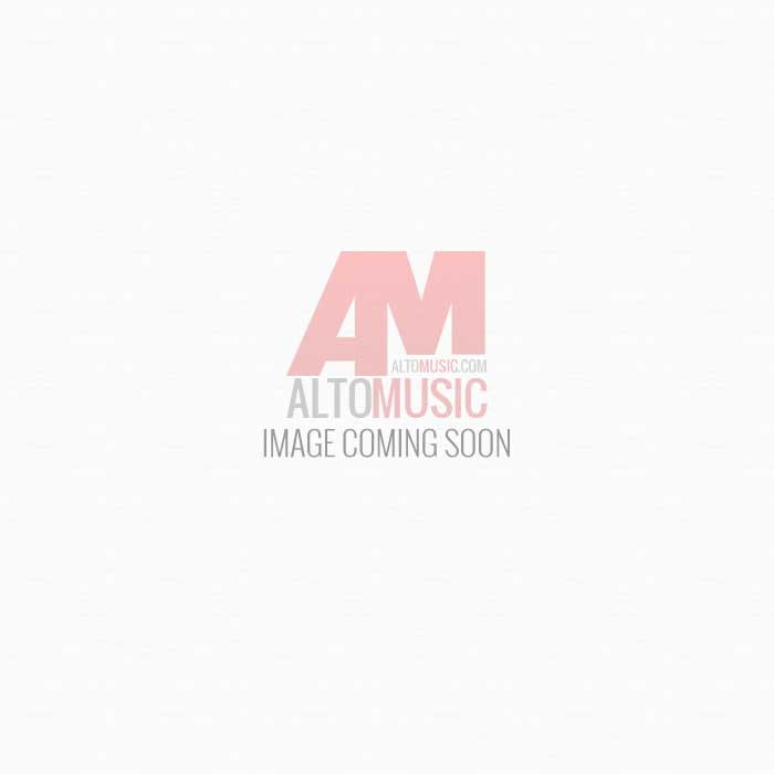 Meinl TMT1A-WH Plastic Frame Double Row Tambourine Aluminum Jingles White