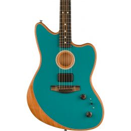 Fender Acoustasonic Jazzmaster Acoustic Electric Hybrid Guitar in Ocean Turquoise