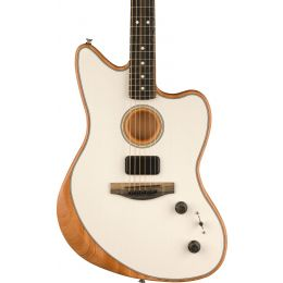 Fender Acoustasonic Jazzmaster Acoustic Electric Hybrid Guitar in Arctic White