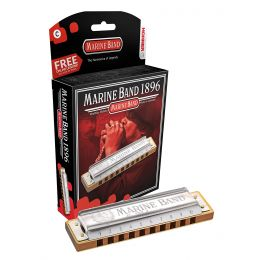 Hohner 1896bx-A Marine Band Harmonica in KEY OF A,