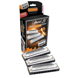 Hohner Special 20 Harmonica 3 piece Pro Pack keys of G,C,A