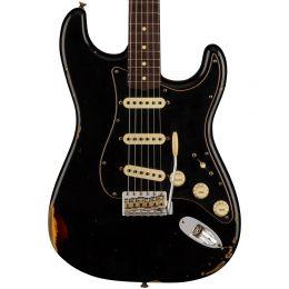 Fender Custom Shop LTD Dual-Mag Strat - Relic Aged Black over 3 Color Sunburst