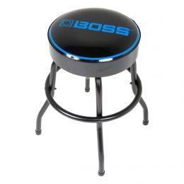 """BOSS Short Barstool with BOSS Logo (24"""", Matte Black)"""