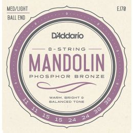 D'Addario EJ70 Mandolin Phospohor Bronze Ball End 11-38