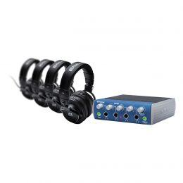 PreSonus HD9/HP4 Pack 4-Channel Headphone Amplifier w/4 Closed-Back Headphones