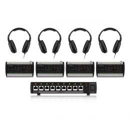 Behringer P16-M Powerplay Headphone Mixers Bundle w/Distributor and Headphones