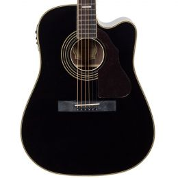 Silvertone 955CEBK Acoustic Electric Guitar in Black