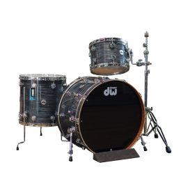 DW Collectors Series 3pc Maple/Mahogany Shell Kit in Grey Oyster