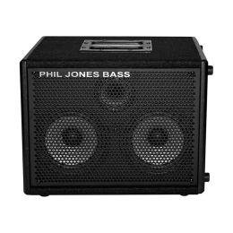 """Phil Jones cab 27 150 watt 8 ohm cab 2x7"""" w/ 3"""" tweeter black"""
