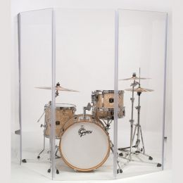 Gibralter GDS-5 Drum Shield 66 Inches High - 5 Hinged Panels 5.5ft By 2 Foot